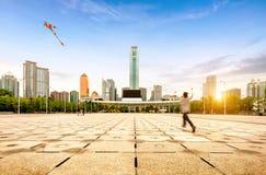 De Stadsplein van China Guangzhou, samengesteld stadscentrum royalty-vrije stock fotografie