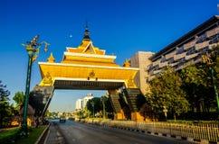 De Stadspoort van Khonkaen in de ochtendtijd, royalty-vrije stock afbeelding