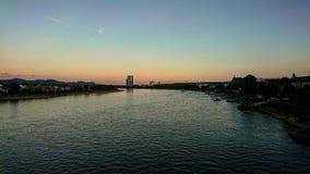 De stadsrivier Rijn royalty-vrije stock afbeelding