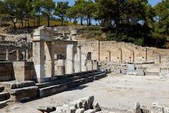 De stadsruïne van Kameriros. Rhodos, Griekenland Royalty-vrije Stock Afbeelding