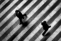De stadsscène van het zebrapad Stock Afbeelding