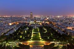 De stadsschemering van Parijs Royalty-vrije Stock Afbeelding