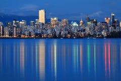 De stadsschemering van Vancouver Royalty-vrije Stock Foto's