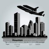 De stadssilhouet van Houston Stock Foto