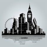 De stadssilhouet van Londen Stock Afbeelding
