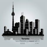 De stadssilhouet van Toronto Stock Foto's
