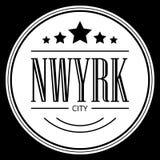 De stadsslogan van New York voor t-shirtdruk, Grafisch T-stuk en gedrukt T-stuk vector illustratie