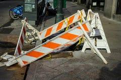 De Stadsstoep van New York het herstellen In aanbouw stock fotografie