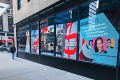 De Stadsstraat Storefront van New York Stock Foto