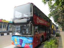 De stadsstraat van Djakarta stock afbeeldingen