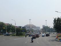 De stadsstraat van Djakarta Stock Foto's