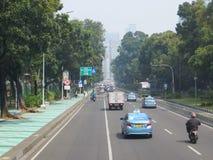 De stadsstraat van Djakarta royalty-vrije stock foto's