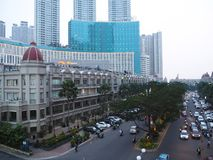 De stadsstraat van Djakarta stock foto