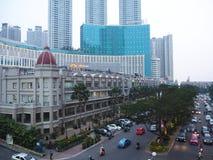 De stadsstraat van Djakarta royalty-vrije stock afbeelding
