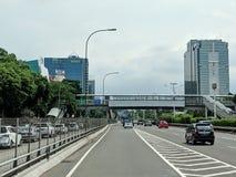 De stadsstraat van Djakarta royalty-vrije stock afbeeldingen