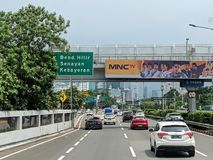 De stadsstraat van Djakarta stock afbeelding