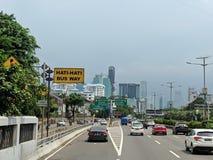 De stadsstraat van Djakarta stock fotografie