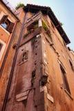 De stadsstraat van Rome Stock Afbeeldingen