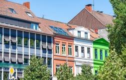 De stadsstraten van Bremen op een mooie zonnige dag Royalty-vrije Stock Afbeelding