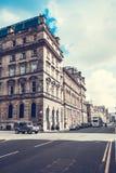 De stadsstraten van Glasgow met mensen en toeristen die, 01 lopen 08 2017 Stock Afbeeldingen