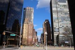 De stadsstraten van New York Stock Afbeeldingen