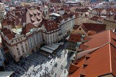 De stadsstraten van Praag Stock Foto