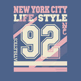 De Stadst-shirt van New York stock illustratie