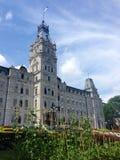De Stadsvan Quebec Parlementsgebouwen en eetbare tuinen, Canada Royalty-vrije Stock Afbeeldingen