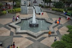 De stadsvierkant van de Batustad stock afbeeldingen