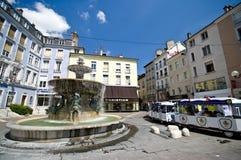 De stadsvierkant van Grenoble royalty-vrije stock fotografie