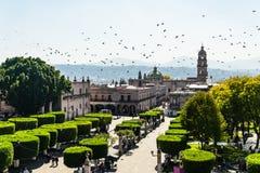 De stadsvierkant van Morelia Royalty-vrije Stock Fotografie