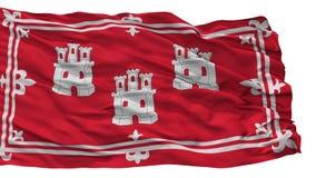 De Stadsvlag van Aberdeen, UK, op Witte Achtergrond wordt het geïsoleerd die vector illustratie