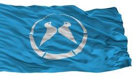 De Stadsvlag van Yawata, de Prefectuur van Japan, Kyoto, op Witte Achtergrond wordt geïsoleerd die royalty-vrije illustratie