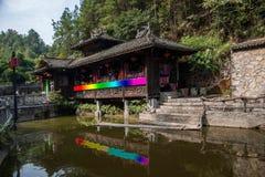 De Stadswater van Hubeienshi op stelten Royalty-vrije Stock Foto's