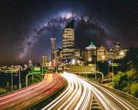 De stadsweg 3 van Brisbane stock afbeelding