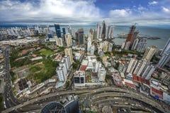 De de Stadswolkenkrabbers van de binnenstad van Panama, Panama royalty-vrije stock foto