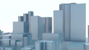 De stadswolkenkrabbers van Minimalism abstracte 3D Tokyo 4K vector illustratie