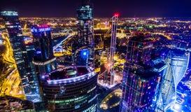 De Stadswolkenkrabbers van Moskou Stock Foto