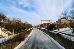 ` De Stadtpark del ` la ciudad Central Park de Viena Fotografía de archivo