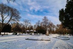 ` De Stadtpark del ` la ciudad Central Park de Viena Foto de archivo