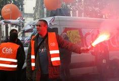 De staking van de pensionering in Parijs Royalty-vrije Stock Afbeeldingen