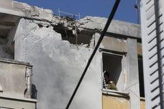 De staking van de raket op Israël. royalty-vrije stock afbeelding