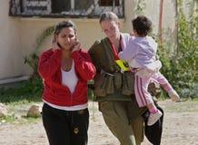 De staking van de raket op Israël. Stock Foto's