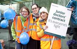 De Staking van derde Junior Doctors ' royalty-vrije stock afbeeldingen