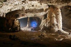 De stalactieten en de vormingen van het hol Stock Afbeeldingen
