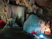 De stalactietmuur van Twain Royalty-vrije Stock Fotografie