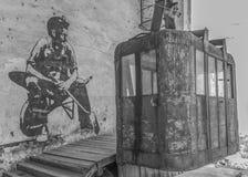 De stalinist stad van Chiatura stock afbeeldingen