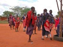 De stam van Masai Stock Foto's