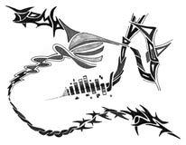 De stammen Krabbels van de Tekening Stock Afbeelding