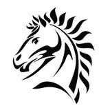 De stammen tatoegering van het paardhoofd vector illustratie